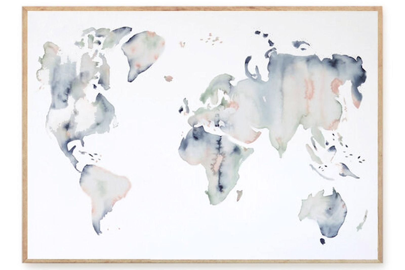 silke bonde ポスター/アートプリント 70×100cm Our world【デンマーク イラスト インテリア 北欧雑貨 おしゃれ 壁掛け 絵画 パネル モダン モノクロ モノトーン】