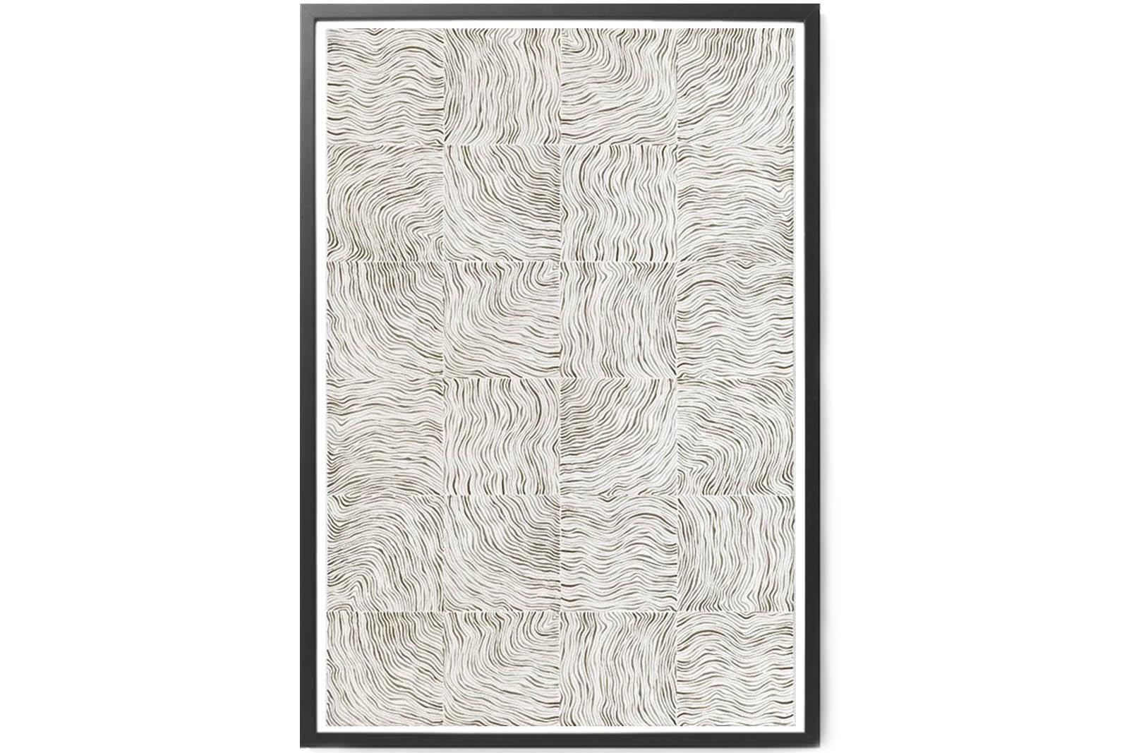 KRISTINA KROGH- ポスター/アートプリント 70×100cm Lines of Sand *限定 100枚【イラスト インテリア 北欧雑貨 おしゃれ 壁掛け 絵画 パネル モダン モノクロ モノトーン】