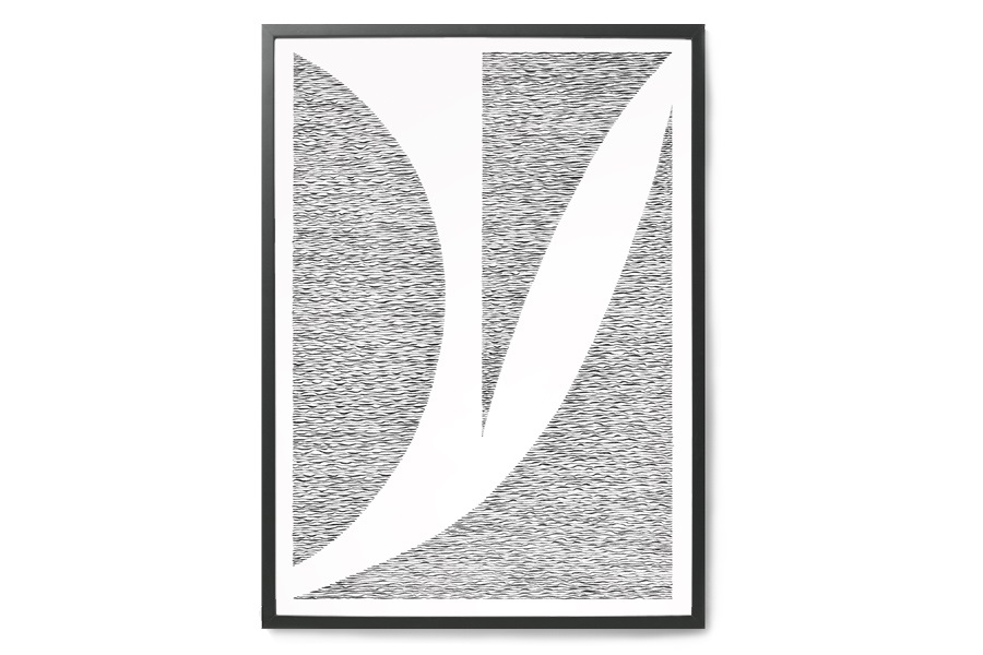 KRISTINA KROGH- ポスター/アートプリント 50×70cm Behind Blinds No.1 *限定 400枚【イラスト インテリア 北欧雑貨 おしゃれ 壁掛け 絵画 パネル モダン モノクロ モノトーン】