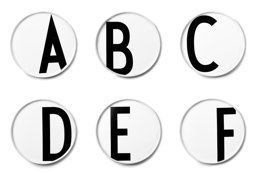 DESIGN LETTERSデザインレターズ Arne Jacobsen アルネ ヤコブセン パーソナルポーセリンプレート(A~M)