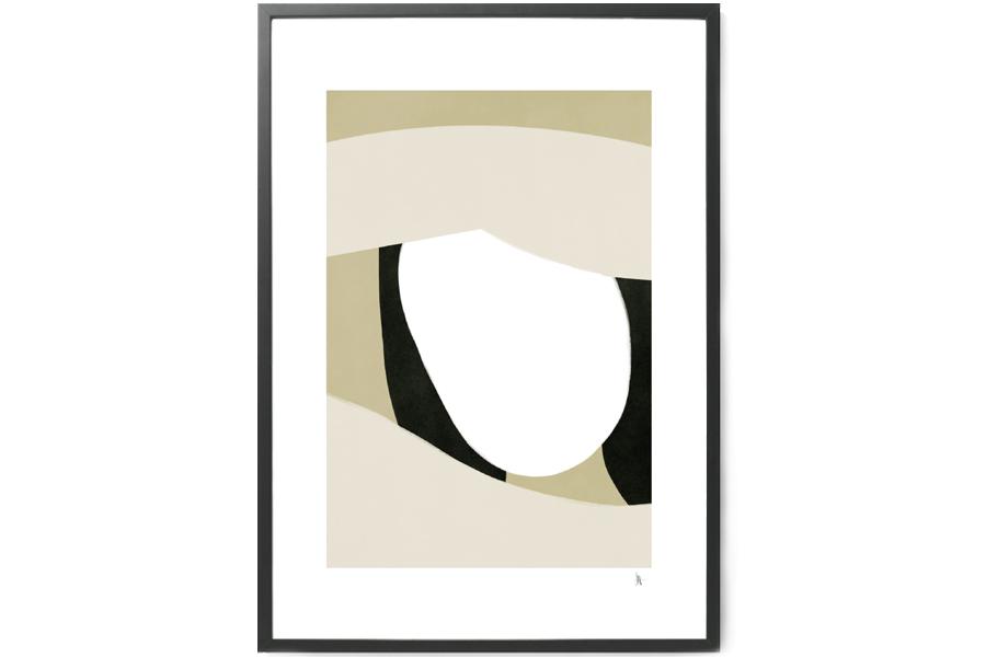 Nord Projects ポスター/アートプリント 70×100cm Shading【イラスト インテリア 北欧雑貨 おしゃれ 壁掛け 絵画 パネル モダン モノクロ モノトーン スウェーデン】