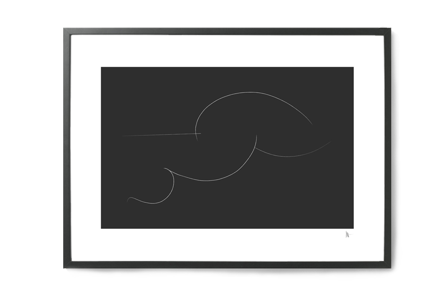 Nord Projects ポスター/アートプリント 50×70cm Woman resting【イラスト インテリア 北欧雑貨 おしゃれ 壁掛け 絵画 パネル モダン モノクロ モノトーン スウェーデン】