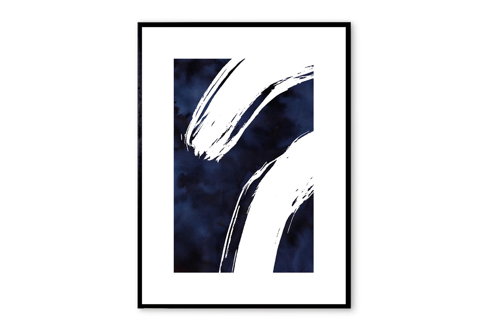 THE POSTER CLUB × MIJO studio ポスター/アートプリント 50×70cm Midnight【イラスト インテリア 北欧雑貨 おしゃれ 壁掛け 絵画 パネル モダン モノクロ モノトーン デンマーク コペンハーゲン】