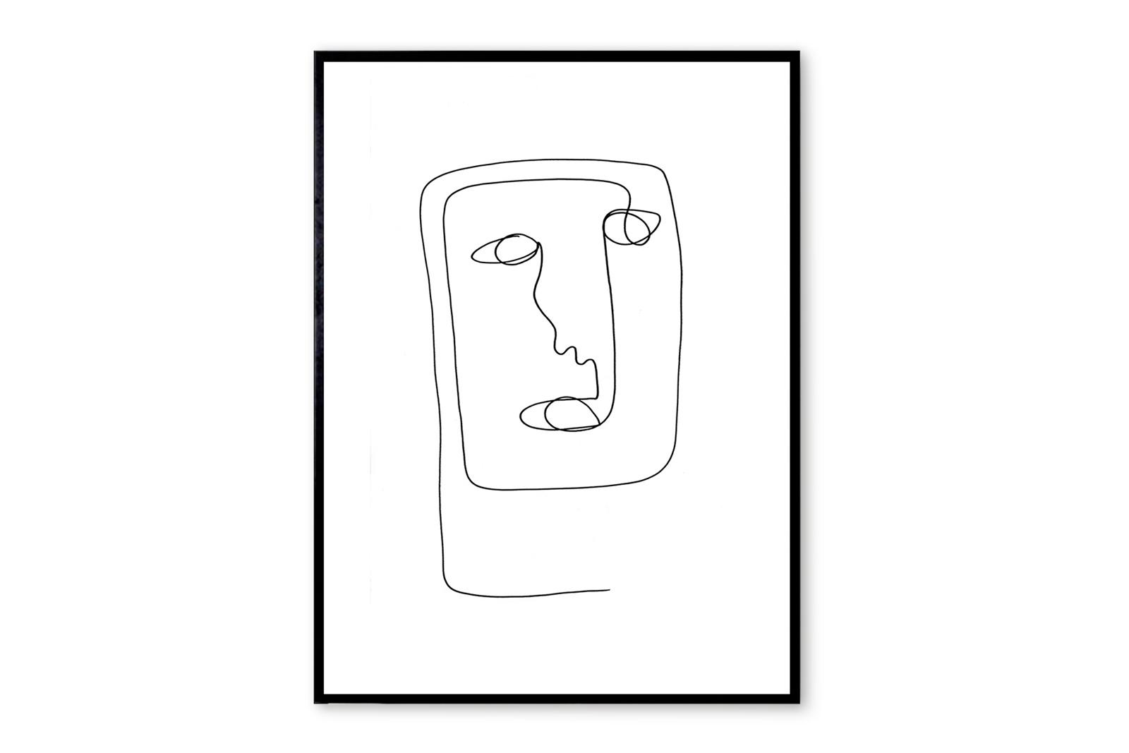 THE POSTER CLUB × Nicoline A. Milton ポスター/アートプリント 50×70cm Alirio【イラスト インテリア 北欧雑貨 おしゃれ 壁掛け 絵画 パネル モダン モノクロ モノトーン デンマーク コペンハーゲン】
