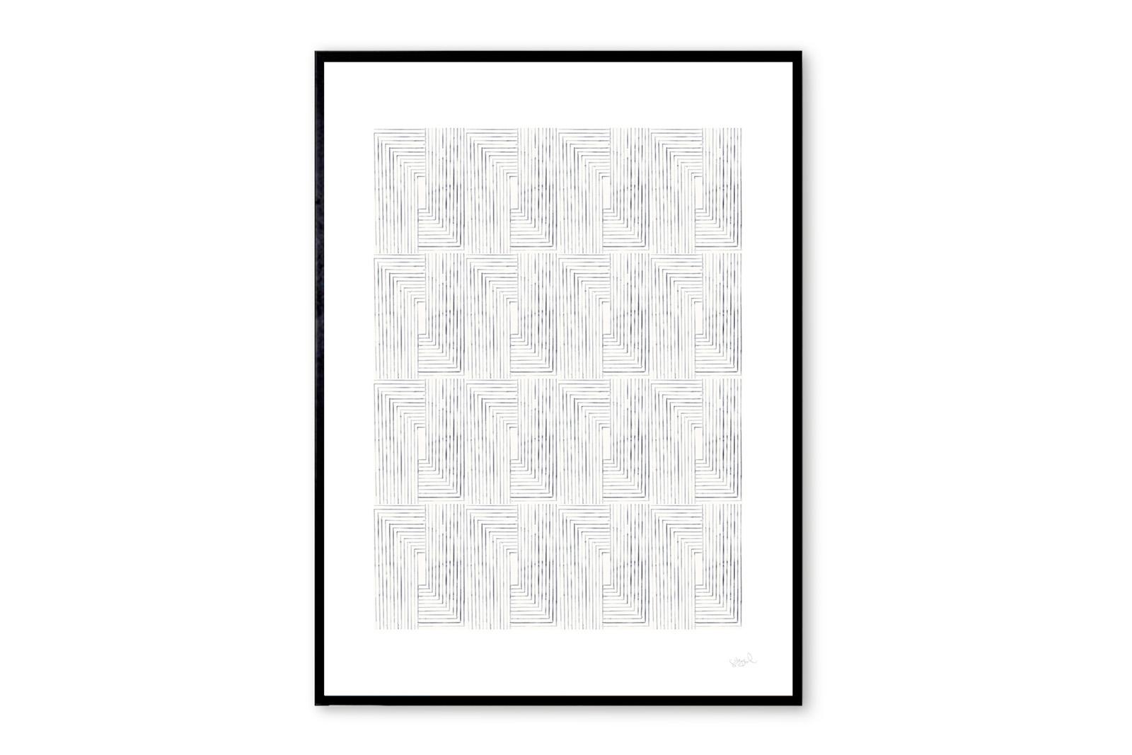 THE POSTER CLUB × Silke Bonde ポスター/アートプリント 50×70cm Loop【イラスト インテリア 北欧雑貨 おしゃれ 壁掛け 絵画 パネル モダン モノクロ モノトーン デンマーク コペンハーゲン】