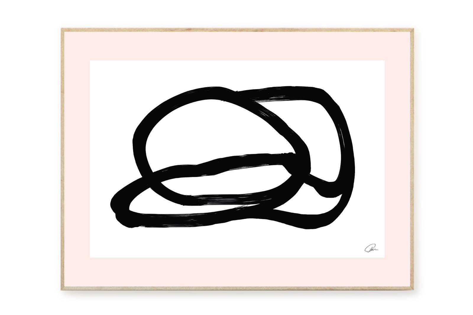 THE POSTER CLUB × RUBIN studio ポスター/アートプリント 50×70cm Composition 01【イラスト インテリア 北欧雑貨 おしゃれ 壁掛け 絵画 パネル モダン モノクロ モノトーン デンマーク コペンハーゲン】