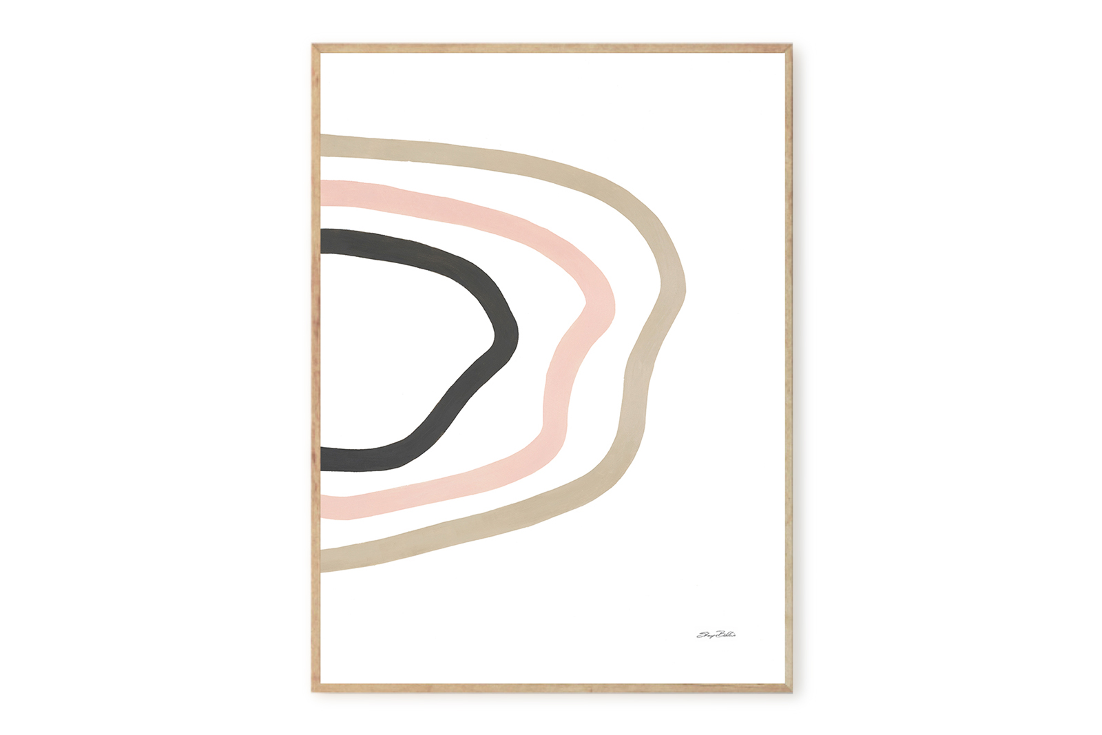 THE POSTER CLUB × Sheryn Bullis ポスター/アートプリント 50×70cm Rythem of a lake【イラスト インテリア 北欧雑貨 おしゃれ 壁掛け 絵画 パネル モダン モノクロ モノトーン デンマーク コペンハーゲン】