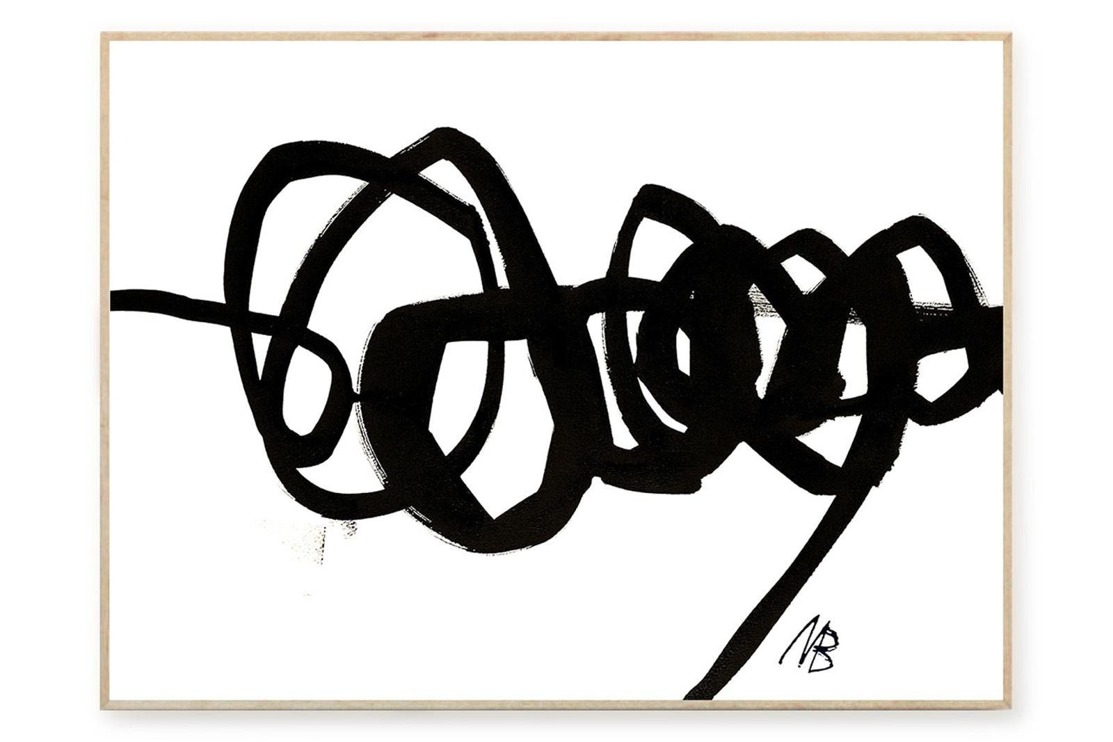 THE POSTER CLUB × Malene Birger ポスター/アートプリント 70×100cm No 05【イラスト インテリア 北欧雑貨 おしゃれ 壁掛け 絵画 パネル モダン モノクロ モノトーン デンマーク コペンハーゲン】