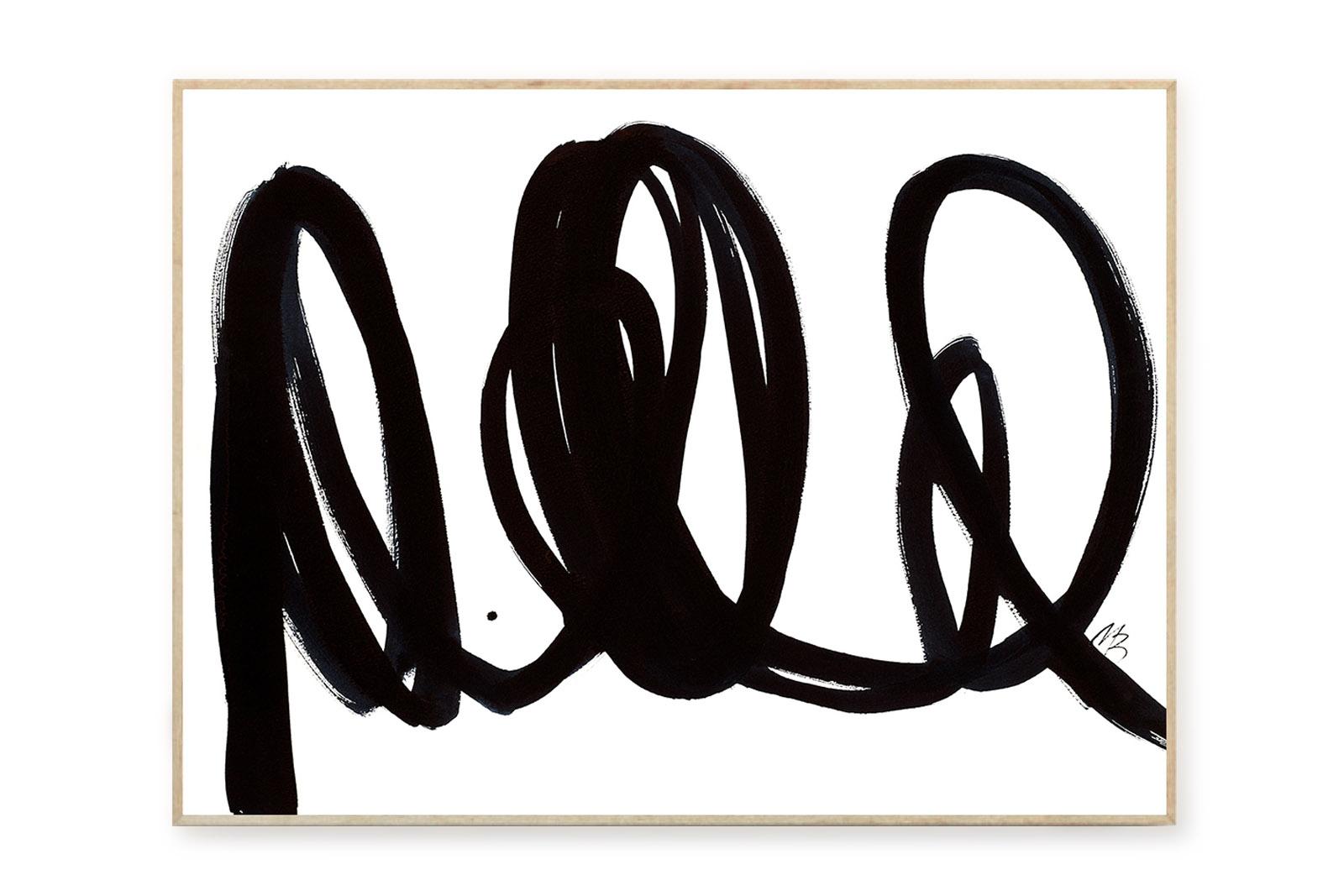 THE POSTER CLUB × Malene Birger ポスター/アートプリント 50×70cm No 06【イラスト インテリア 北欧雑貨 おしゃれ 壁掛け 絵画 パネル モダン モノクロ モノトーン デンマーク コペンハーゲン】