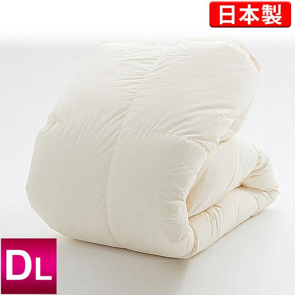 羽毛布団 ハンガリー産ホワイトダックダウン85% 充てん量1.7kg ダブルロング 190×210cm ニューゴールドラベル キナリ 日本製 側生地:綿100%