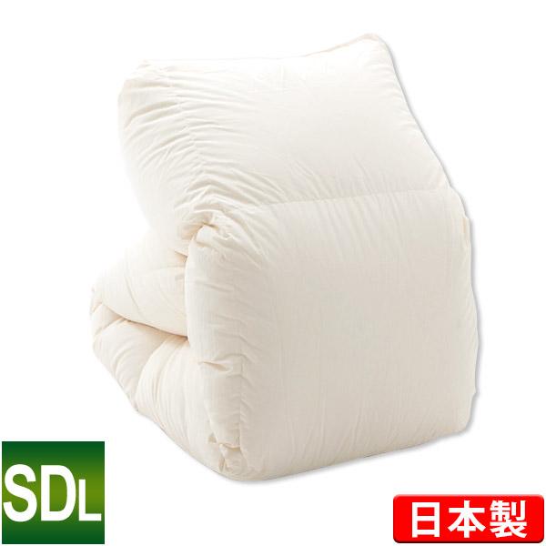 羽毛布団 ポーランド産ホワイトマザーグースダウン93% セミダブルロング 170×210cm プレミアムゴールドラベル ダウンパワー440 キナリ 日本製