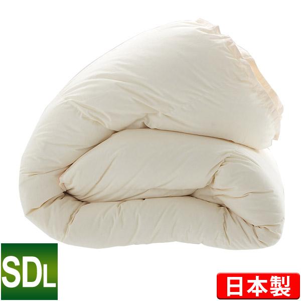 羽毛布団 ハンガリー産ホワイトマザーダックダウン93% セミダブルロング 170×210cm ロイヤルゴールドラベル ダウンパワー400 キナリ 日本製