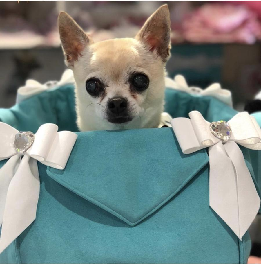 【Lunablue × Susanlanci コラボ】キャリーバック パース セレブ愛用 セレブ犬 日本未発売 犬用品 キャリー ルナブルー