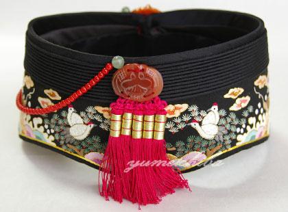 韓国花嫁シルク手刺繍 十長生アヤン黒(宝飾飾り)■ayan-12-s【ギフト】【お土産】