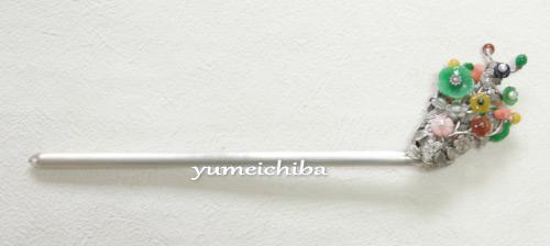 韓服・チョゴリヘアー飾り銀製ピニョNo08宝飾花ピニョ■pinyo-s-08-s【ギフト】【お土産】