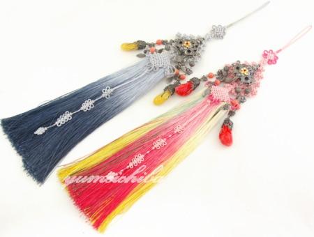 チマチョゴリの胸から垂らす飾り シルク特殊宝飾玉ノリゲ■norige-h-32-s【ギフト】【お土産】