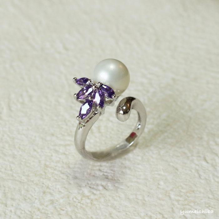 指輪No32おしゃれなパールの指輪■yubiwa-33-s【ギフト】【お土産】