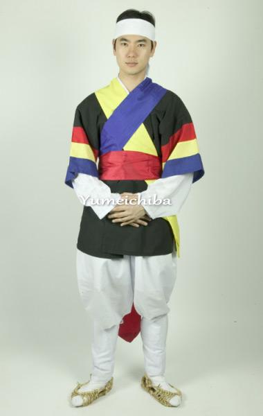 韓国サムルノリ用7点フルセット衣装/男女兼用サイズ■buyou-samset-1-s
