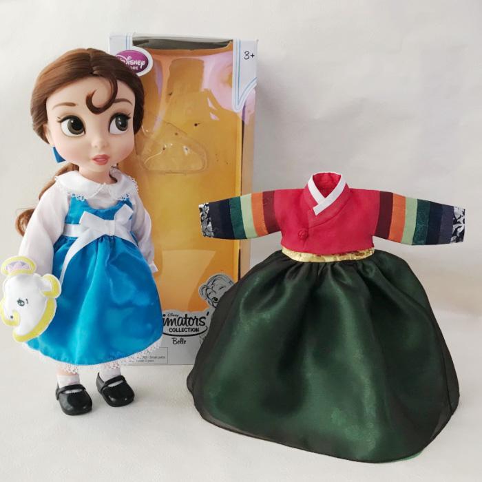 美女と野獣 ベル プリンセス 人形 40cm 着せ替えチマチョゴリ付き セットン■disney-belle3-s【ギフト】【お土産】