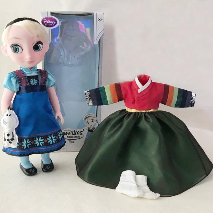 アナと雪の女王 エルサ人形 40cm 着せ替えチマチョゴリ付き セットン■disney-elsa3-s【ギフト】【お土産】