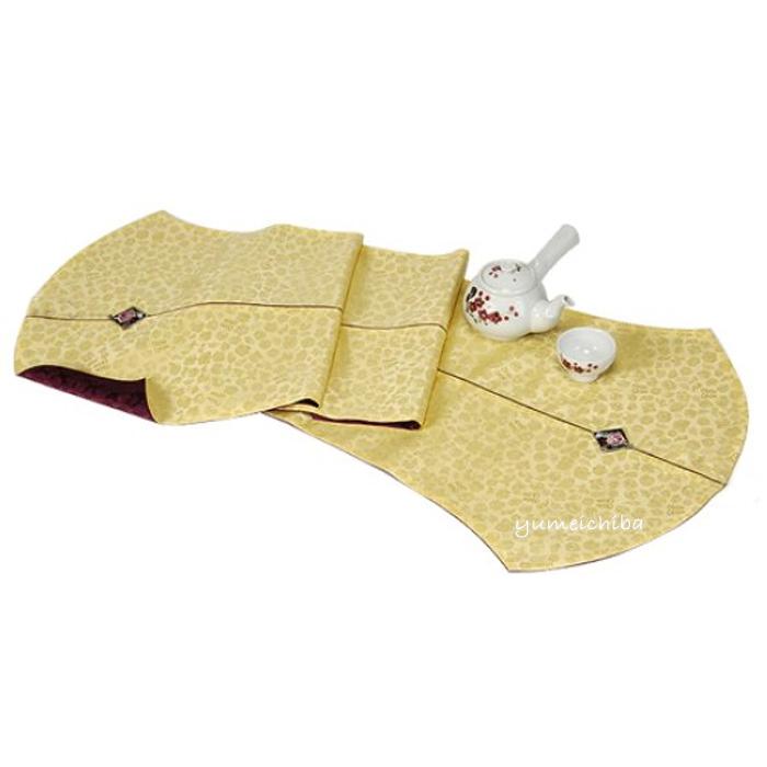 韓国手刺繍テーブルセンタークロス(ゴールド)■centercloth-12-s【ギフト】【お土産】