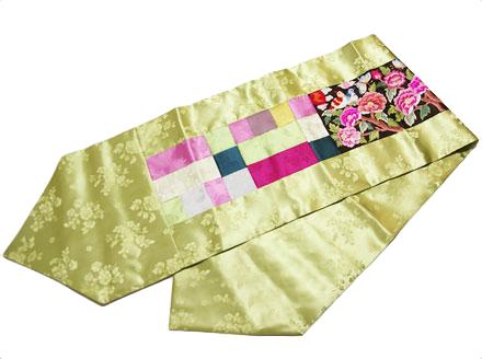 韓国シルク牡丹柄刺繍テーブルセンタークロス ■centercloth-2-s【ギフト】【お土産】