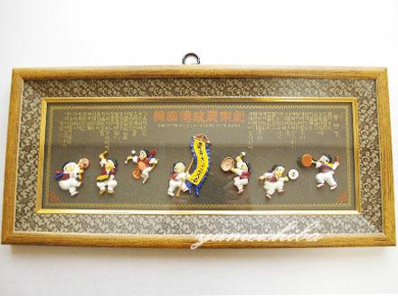 韓国壁掛け飾り立体額 農楽の舞 大■kabekake-gaku-7-s【ギフト】【お土産】