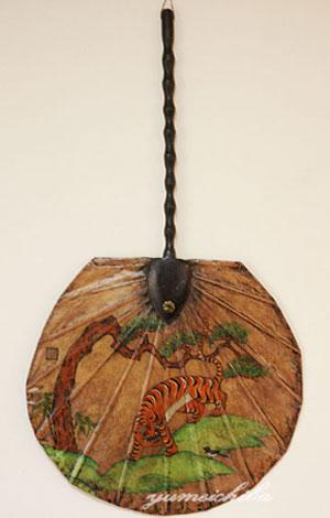 韓国壁掛け飾り団扇■kabekake-uchiwa-1-s【ギフト】【お土産】
