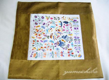 韓国シルク手刺繍テーブルクロス ■tablecloth-2-s【ギフト】【お土産】