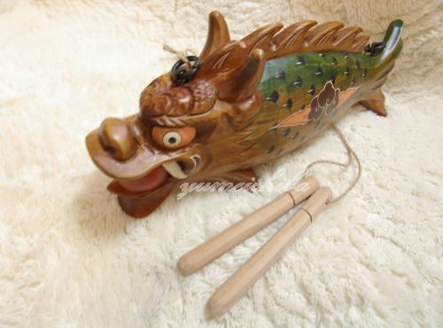 韓国民芸品・店舗用ディスプレイ 木魚■warakomono-8-s【ギフト】【お土産】