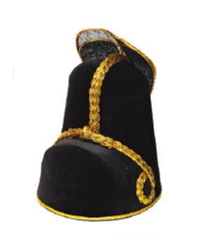 韓国新郎帽子黒×金沙帽・サモ■samo-2-s【ギフト】