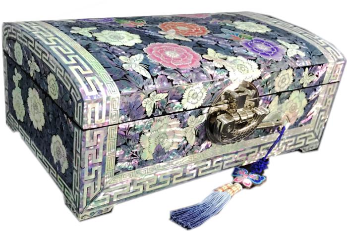 螺鈿の高級ジュエリーボックス・高級螺鈿宝石箱-福牡丹?jewelrybox-32-s【ギフト】