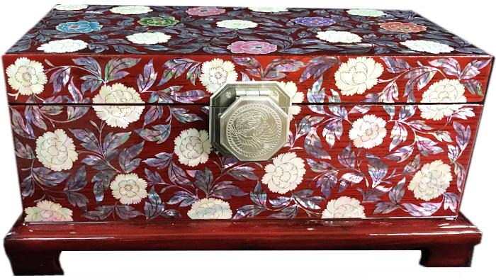 螺鈿の高級ジュエリーボックス・高級螺鈿宝石箱-小春?jewelrybox-33-s【ギフト】