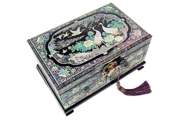 韓国螺鈿十長生真珠宝石箱■jewelrybox-drjb205-s【ギフト】