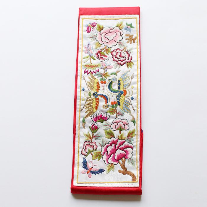 韓国婚礼手刺繍 白鳳凰サジュ紙入り■saju-7-s【ギフト】