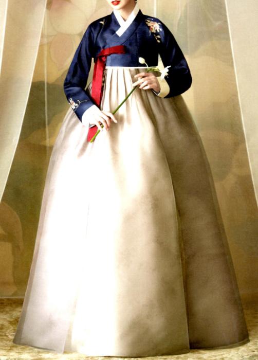 オーダーメイドチマチョゴリ・シルク・エレガントデザイン・ソヒャン033■o-silk-nc-033-s