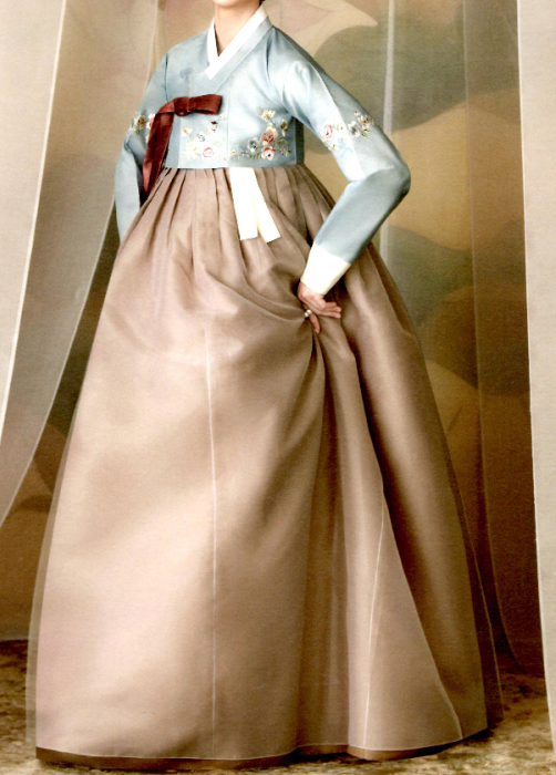 オーダーメイドチマチョゴリ・シルク・エレガントデザイン・ユングム056?o-silk-nc-056-s