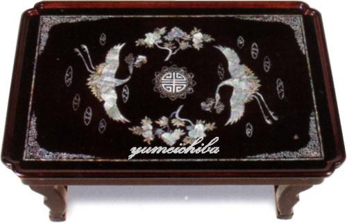 韓国螺鈿漆塗りテーブル鶴柄中■oz-gl-201-s【ギフト】【お土産】【長寿祝】