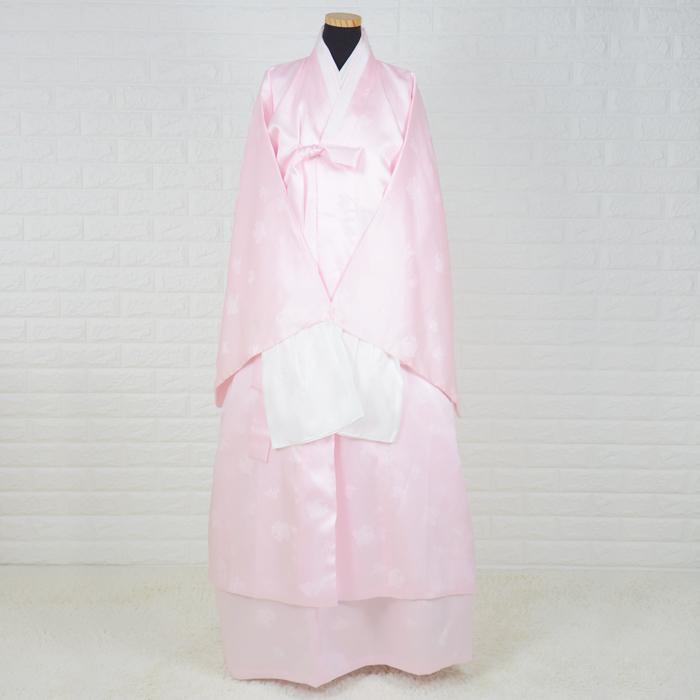 韓国葬儀用衣装女性用チョゴリ・シルク高級寿衣フルセット[ピンク]■sui-2-4-s