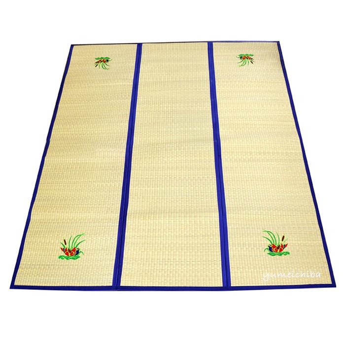 韓国伝統のい草の茣蓙(ござ)カーペット・140×190■goza-1-s【ギフト】【お土産】