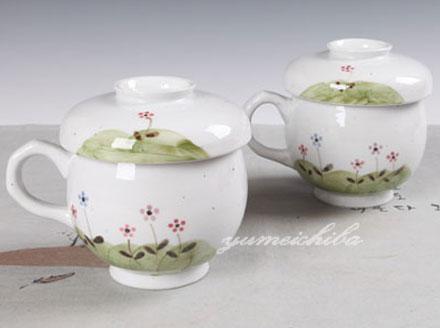 韓国野草茶器2客6ピース (2客分・蓋、茶こし付き)■chaki-8-s【ギフト】【お土産】【長寿祝】【引出物】