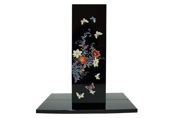 韓国螺鈿花器牡丹と蝶(四角)■kaki-drvs02-s【ギフト】【お土産】