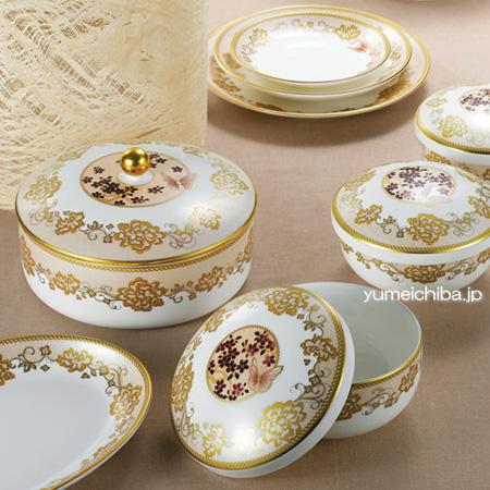 牡丹と蝶 飯床器セット26ピース■pansan-1-s【ギフト】【お土産】【引出物】【婚礼用品】