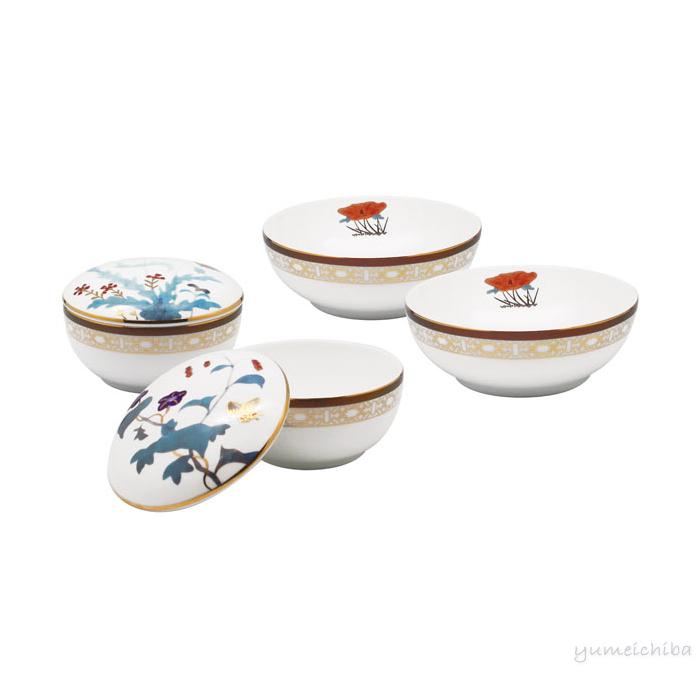 高級韓国陶磁器セット(6P) 草虫図■pansan-17-s【ギフト】【お土産】【引出物】【婚礼用品】