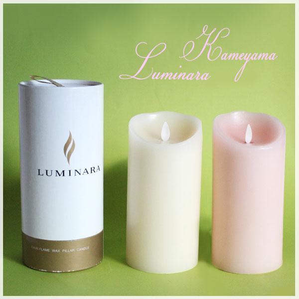 LUMINARA Mサイズ 復刻版 カメヤマ = (li) B0301-00-00B B03010000B 3.5×7 ルミナラ LED ローズの香り キャンドルライト ピラー キャンドル 3.5×7 ウ