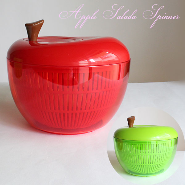 大人気☆ アップルサラダスピナー =  (ot) 水切り器 サラダ 野菜 キッチン 時短 Sサイズ GENDAI HYAKKA INC. KR333 =