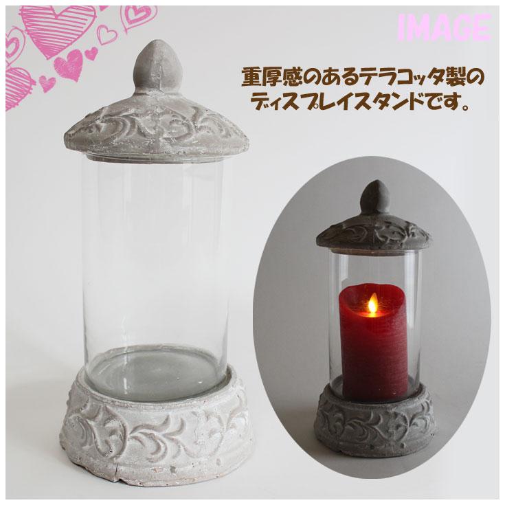 Garden Collection 로마자 테라코타 디스플레이 스탠드 = (ot) 배송 432 원형에서 정원 가든 인테리어 LED 촛불 동양 석 창 82682 =