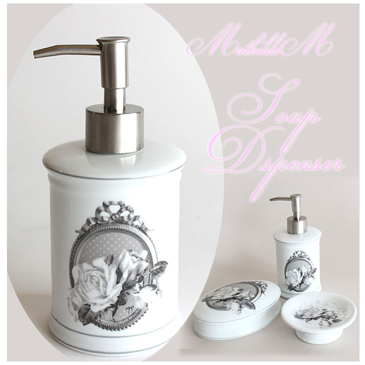 choice rakuten global market mathilde m rococo rose soap dispenser shipping costs 490 yen. Black Bedroom Furniture Sets. Home Design Ideas