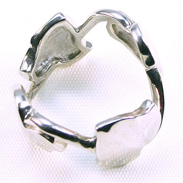 【ラスト1点】 アイビー リーフ シルバー リング = (ac) 送料無料 指輪 4枚 葉っぱ =