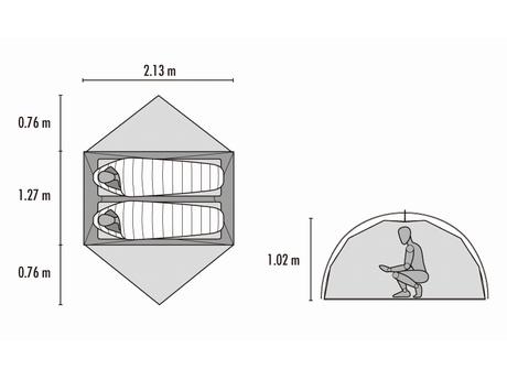 MSR エムエスアール ELIXIR 2 エリクサー 2 入門者にもおすすめ テント泊 専用フットプリント付き